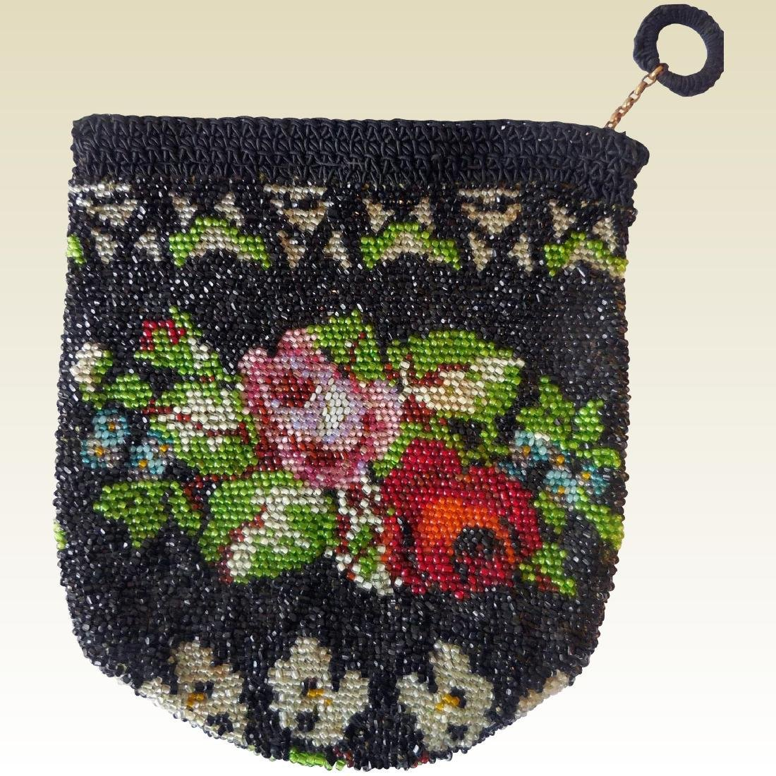 Vintage Crocheted & Beaded Lady's Bag
