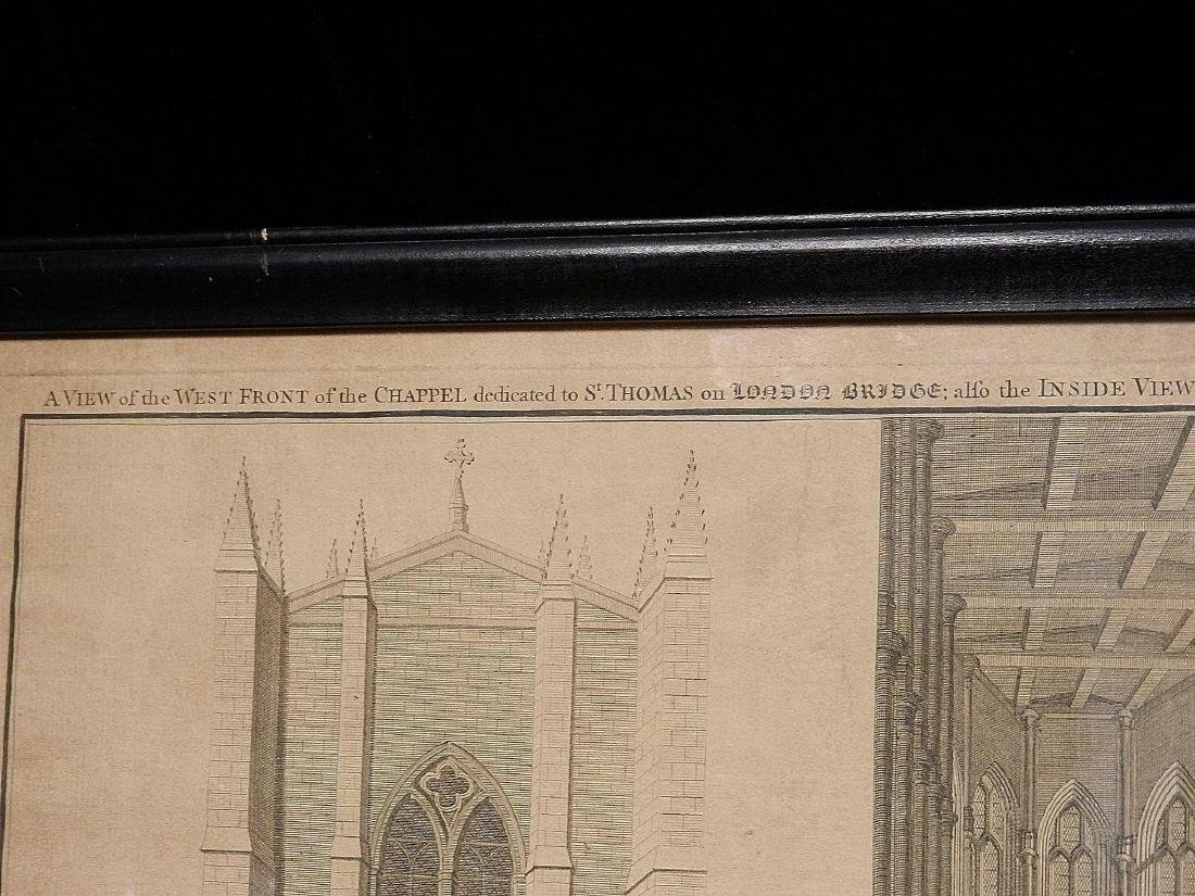 Antique Copper Plate Engraving of the London Bridge by - 7