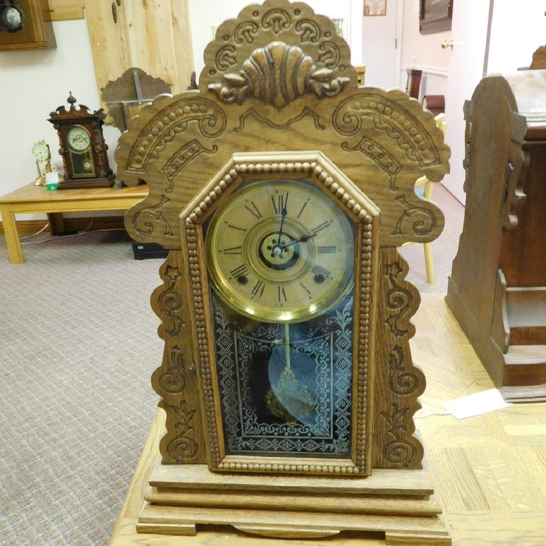 Antique Parlor Kitchen clock -Working .