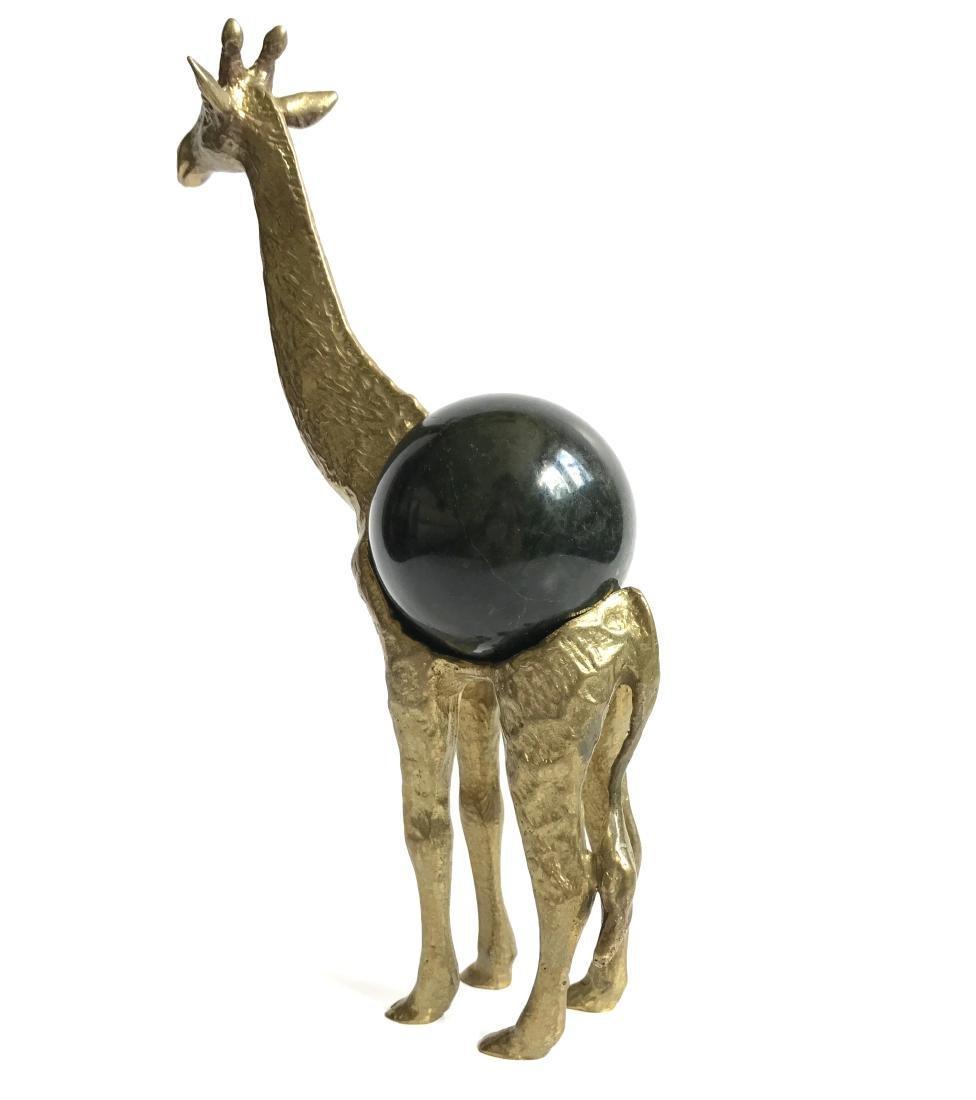 Vintage statue bronze Giraffe Serpentine shpere ø60mm
