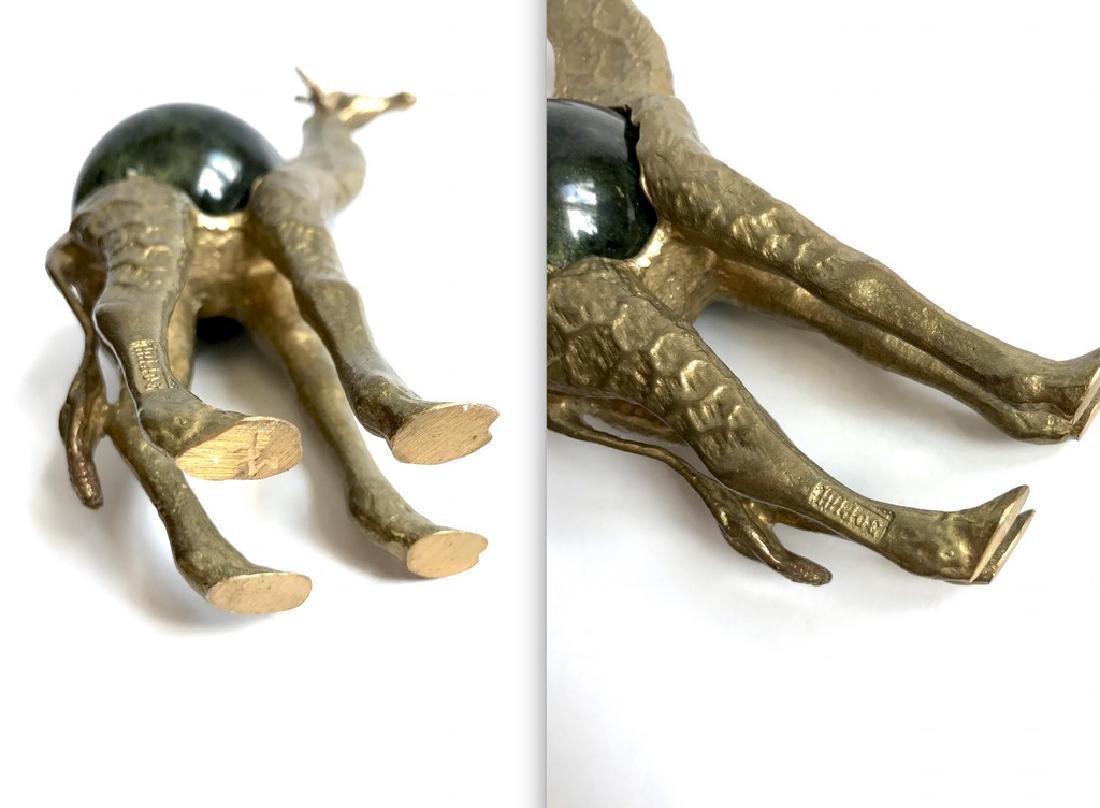 Vintage statue bronze Giraffe Serpentine shpere ø60mm - 9