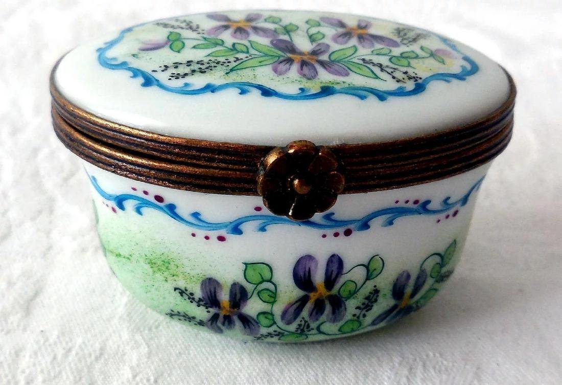 Limoges Porcelain Trinket Box - 2