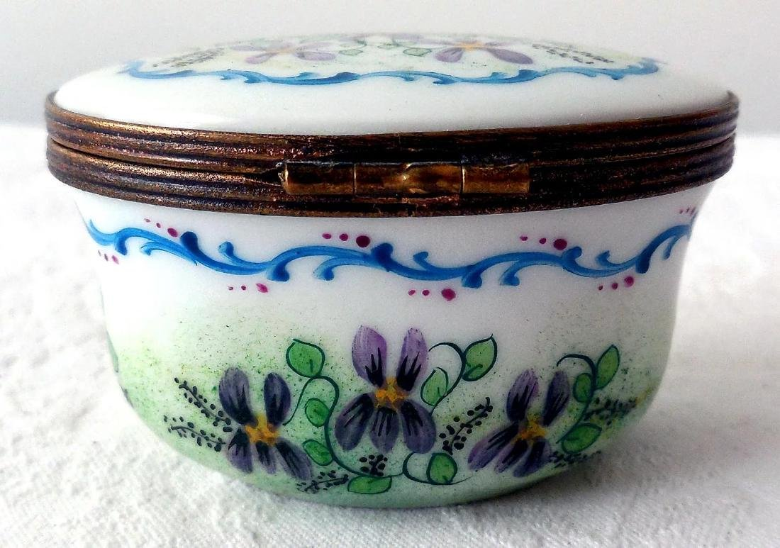 Limoges Porcelain Trinket Box - 4