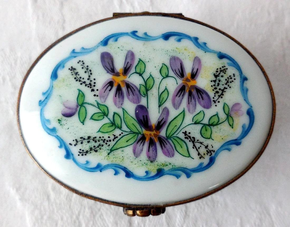 Limoges Porcelain Trinket Box - 5