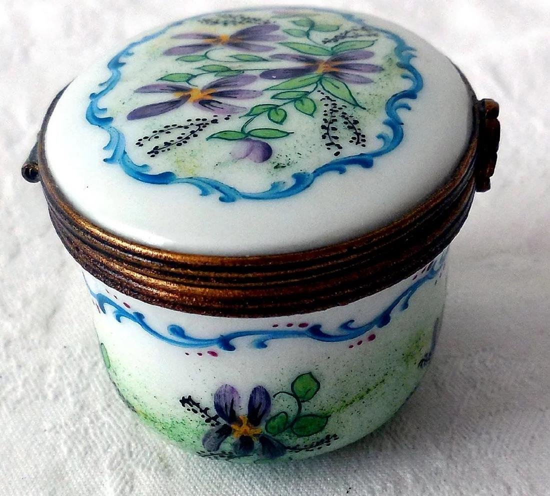 Limoges Porcelain Trinket Box - 6