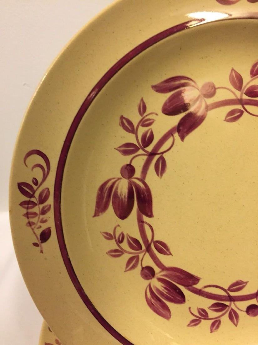 12 Antique Wedgwood Caramel Colored Lunch Plates, 1900 - 4