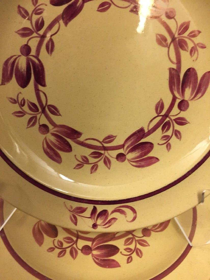 12 Antique Wedgwood Caramel Colored Lunch Plates, 1900 - 5