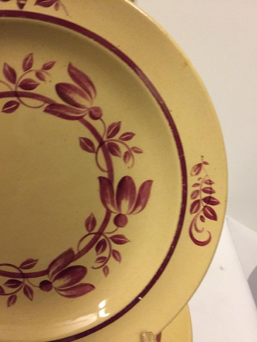 12 Antique Wedgwood Caramel Colored Lunch Plates, 1900 - 6
