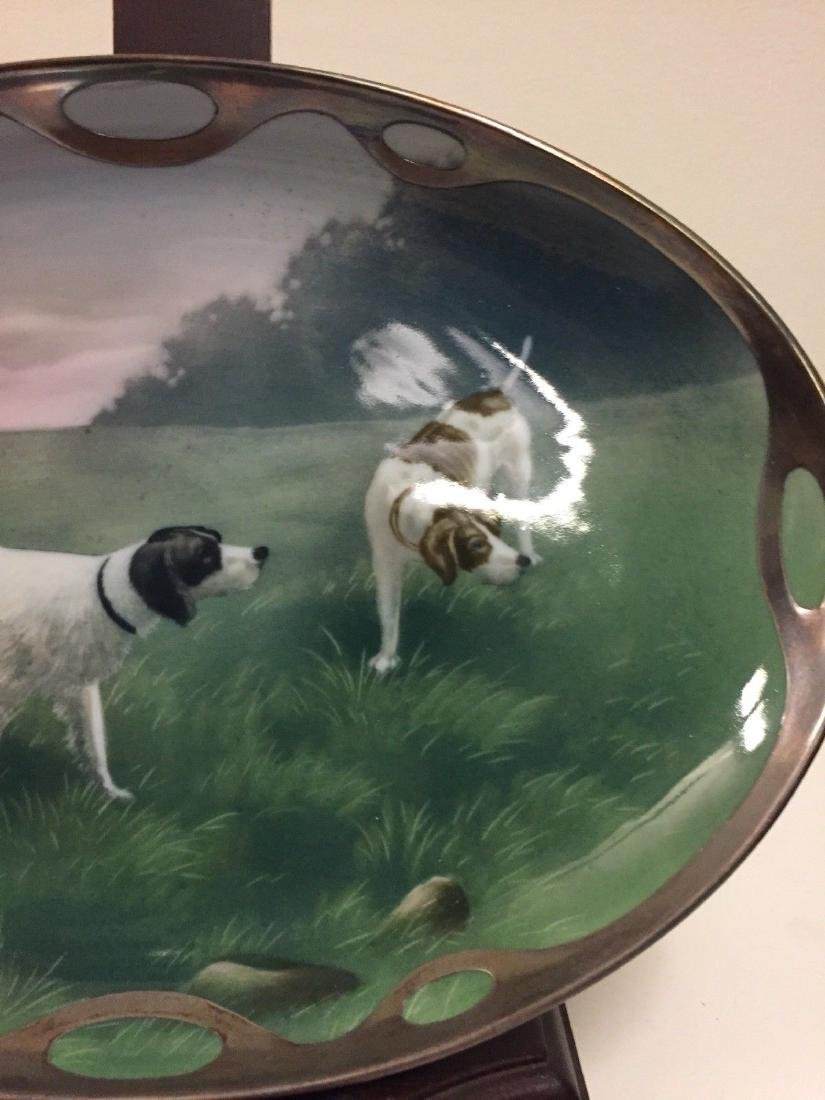 German Porcelain And Silver Overlay Dish, Circa 1890 - 4