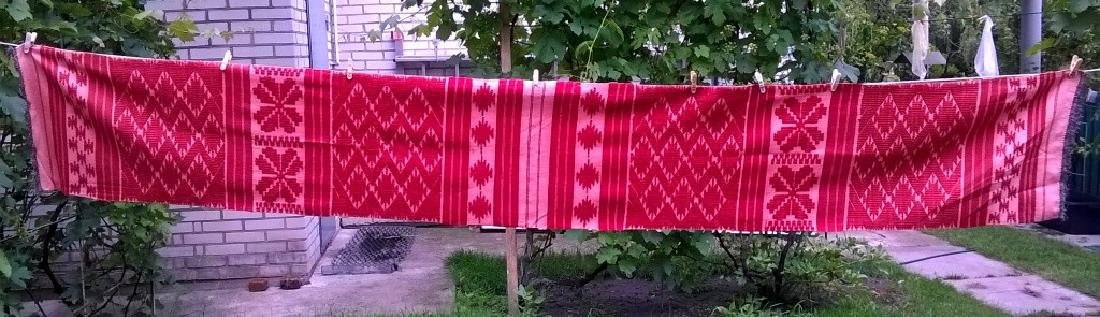 Handmade ritual towel. Length - 99in (250 cm) - 2