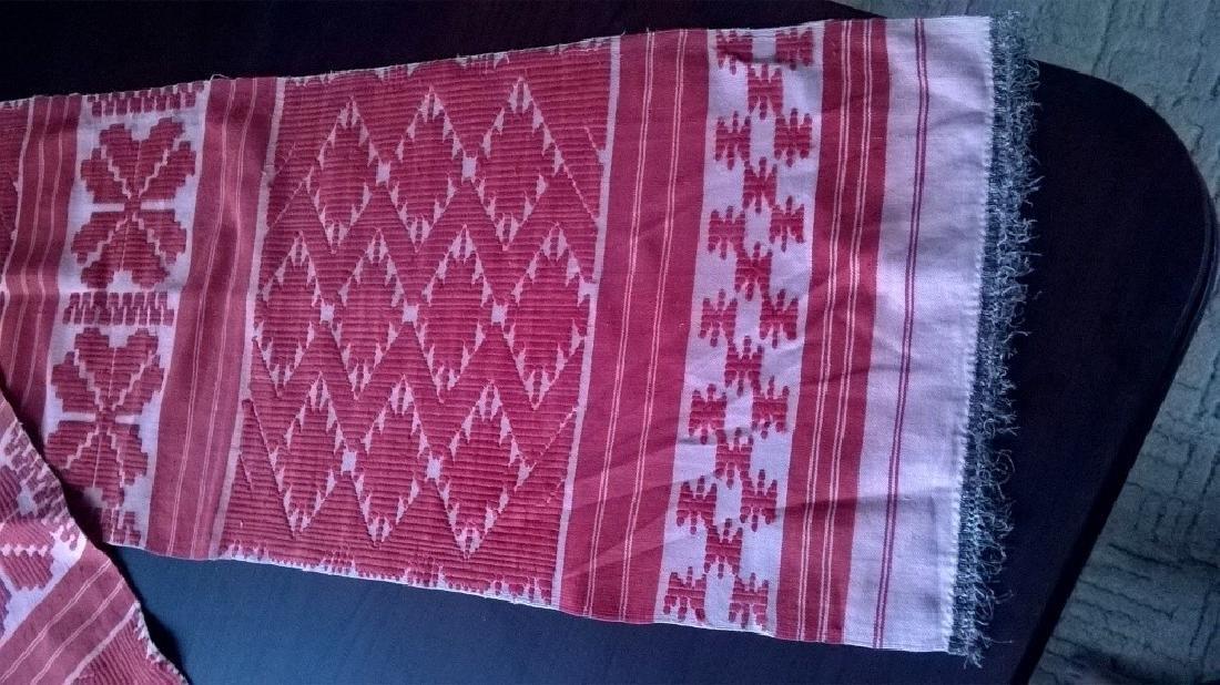 Handmade ritual towel. Length - 99in (250 cm) - 6