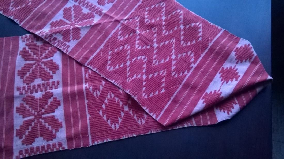 Handmade ritual towel. Length - 99in (250 cm) - 8