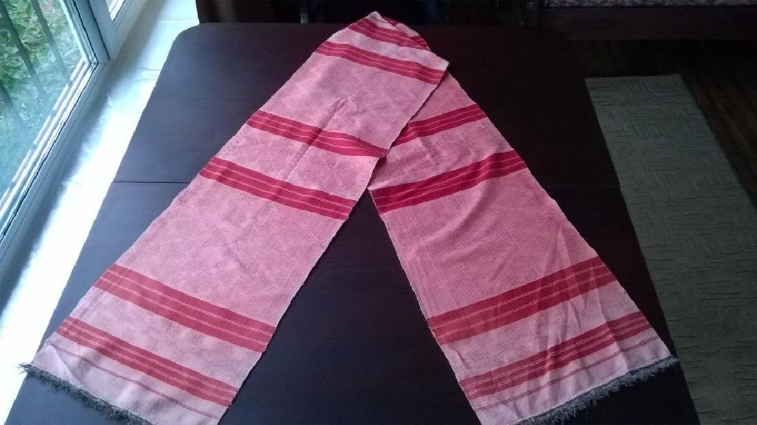 Handmade ritual towel. Length - 99in (250 cm) - 9