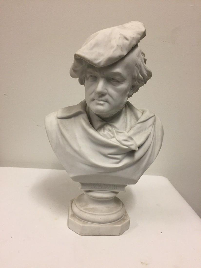 German Bisque Bust Of Richard Wagner, Late 19th Cent