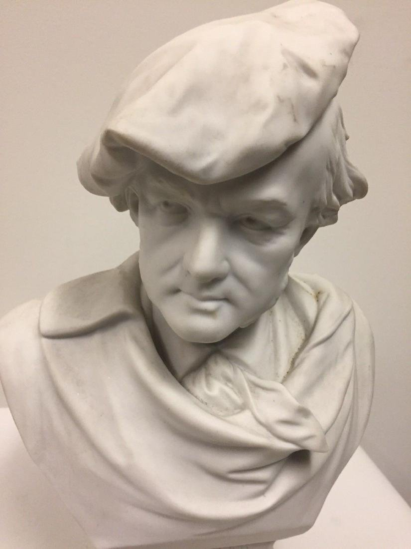 German Bisque Bust Of Richard Wagner, Late 19th Cent - 2