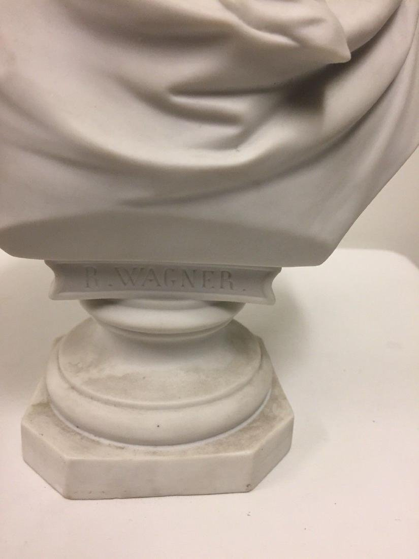 German Bisque Bust Of Richard Wagner, Late 19th Cent - 3