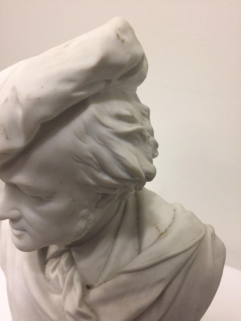 German Bisque Bust Of Richard Wagner, Late 19th Cent - 4