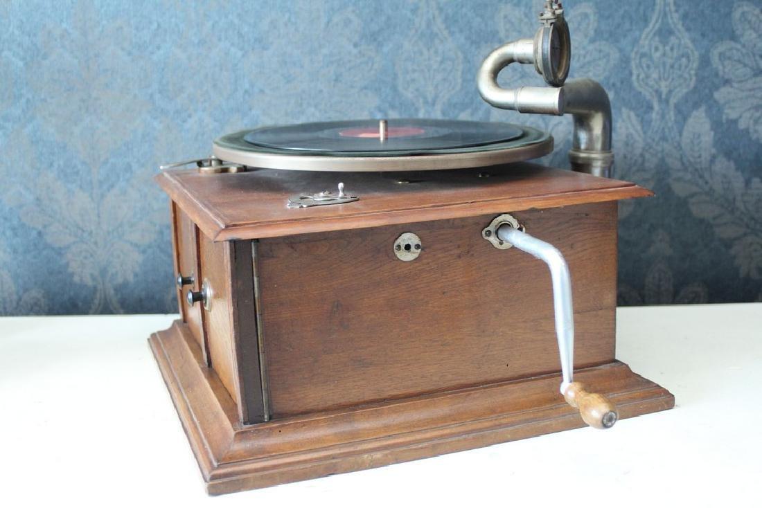 Antique recordplayer HMS like model - 3