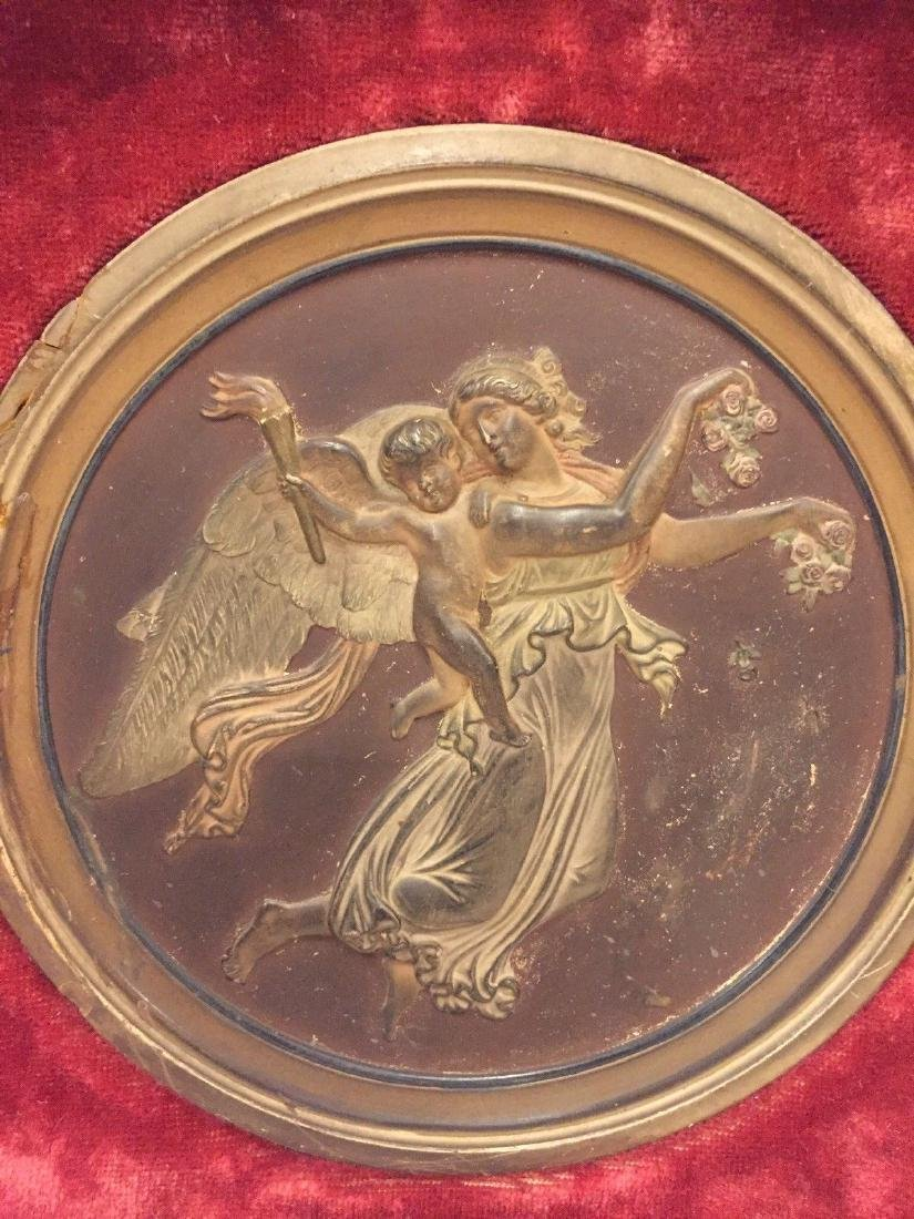 Antique Bronze Roundel Plaque, Circa 1900 - 2