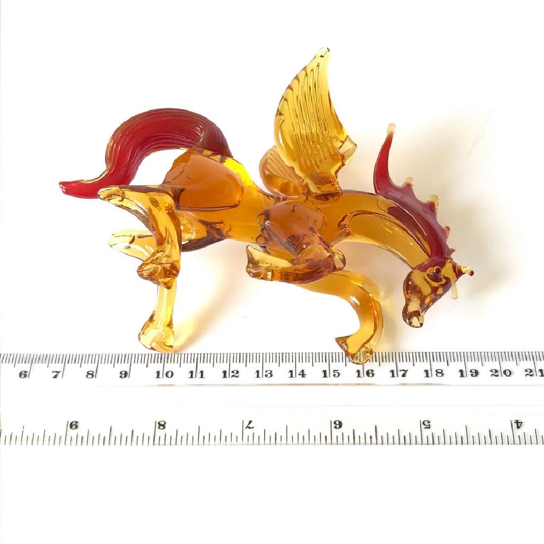 Figurine of Pegasus the winged horse amber coloured - 5