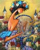 Wiktor Bezrukow Painting Harpist