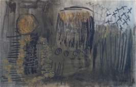 Charles Gassner Mid Century Abstract Painting