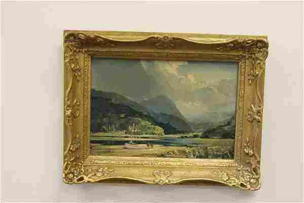Leslie Arthur Wilcox Painting Mountain Landscape
