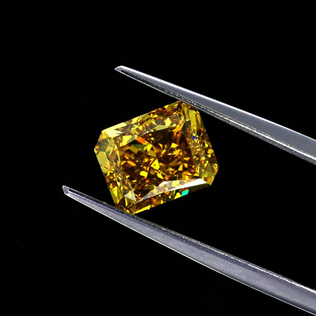 3.01 Ct. Natural Fancy Brownish Yellow Radiant Shape