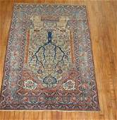 Antique Turkish Oushak Ushak Square Rug Size 4'x4'