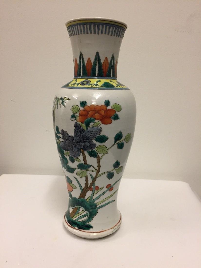Chinese Porcelain Famille Verte Vase, 19th Century - 2