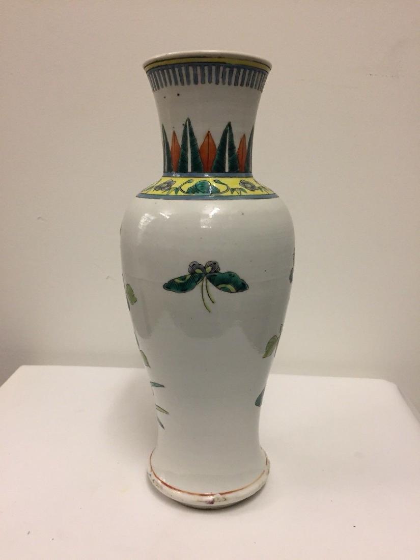 Chinese Porcelain Famille Verte Vase, 19th Century - 3