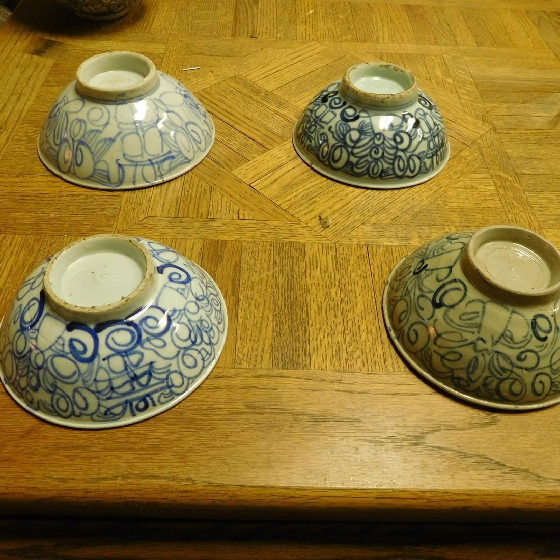 Set of (8) Chinese antique bowls - Qing Dynasty bowls