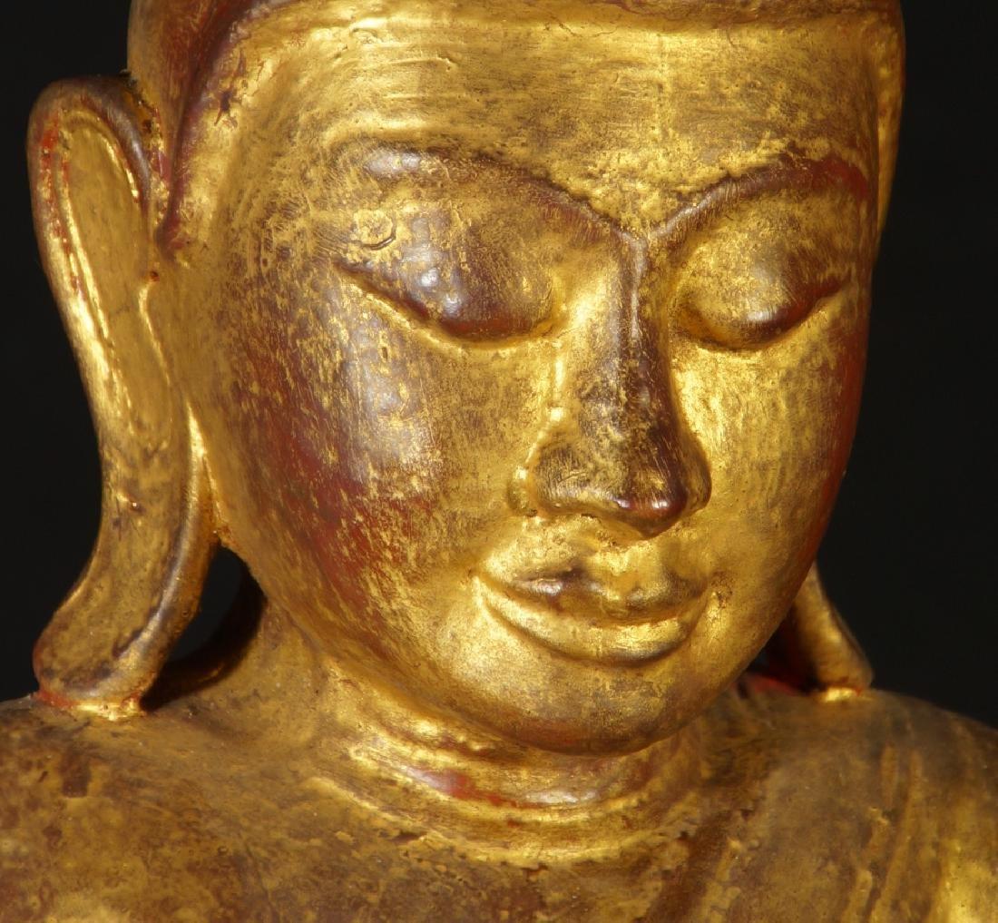 Antique Burmese Buddha statue - 10