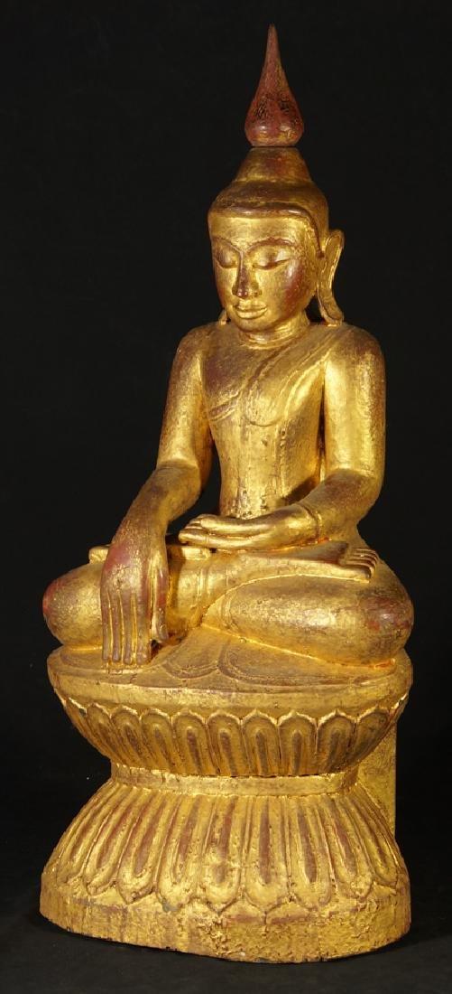 Antique Burmese Buddha statue - 2