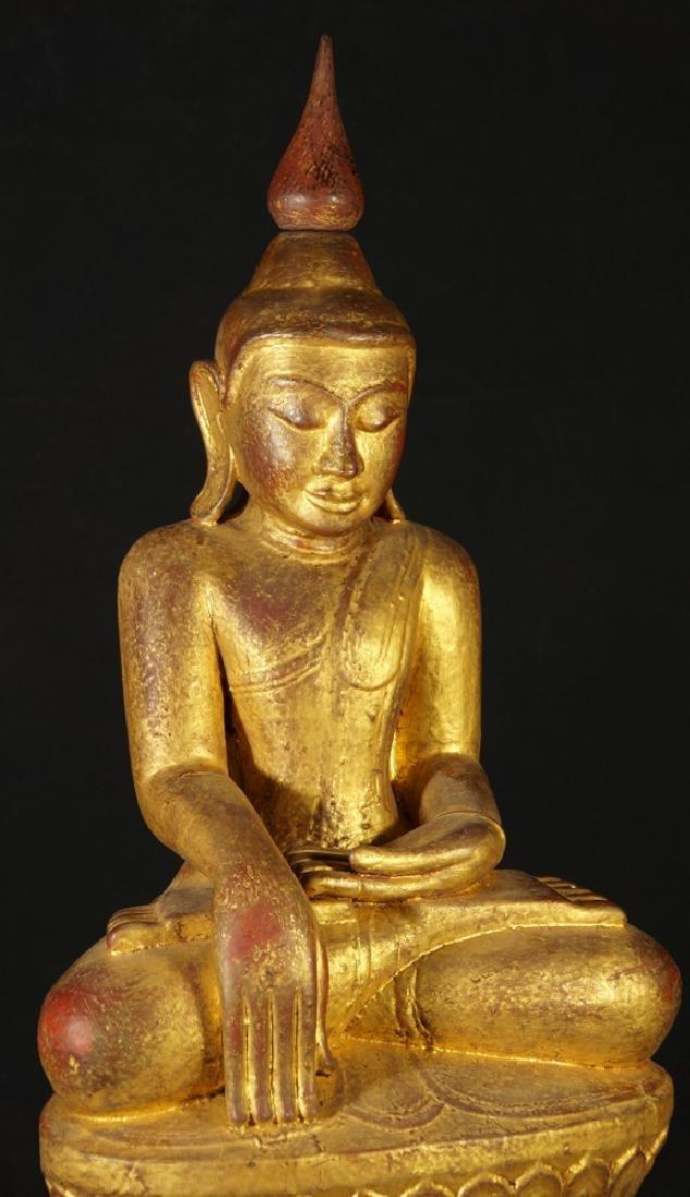 Antique Burmese Buddha statue - 7