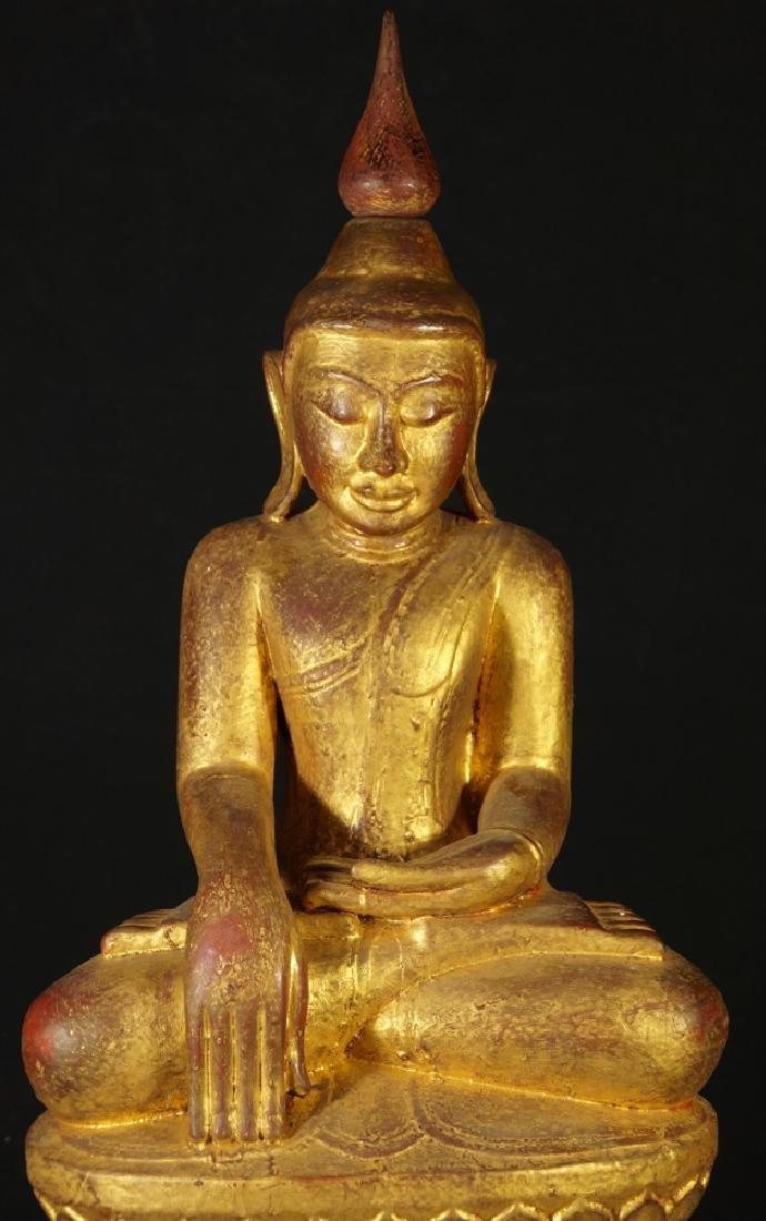 Antique Burmese Buddha statue - 8