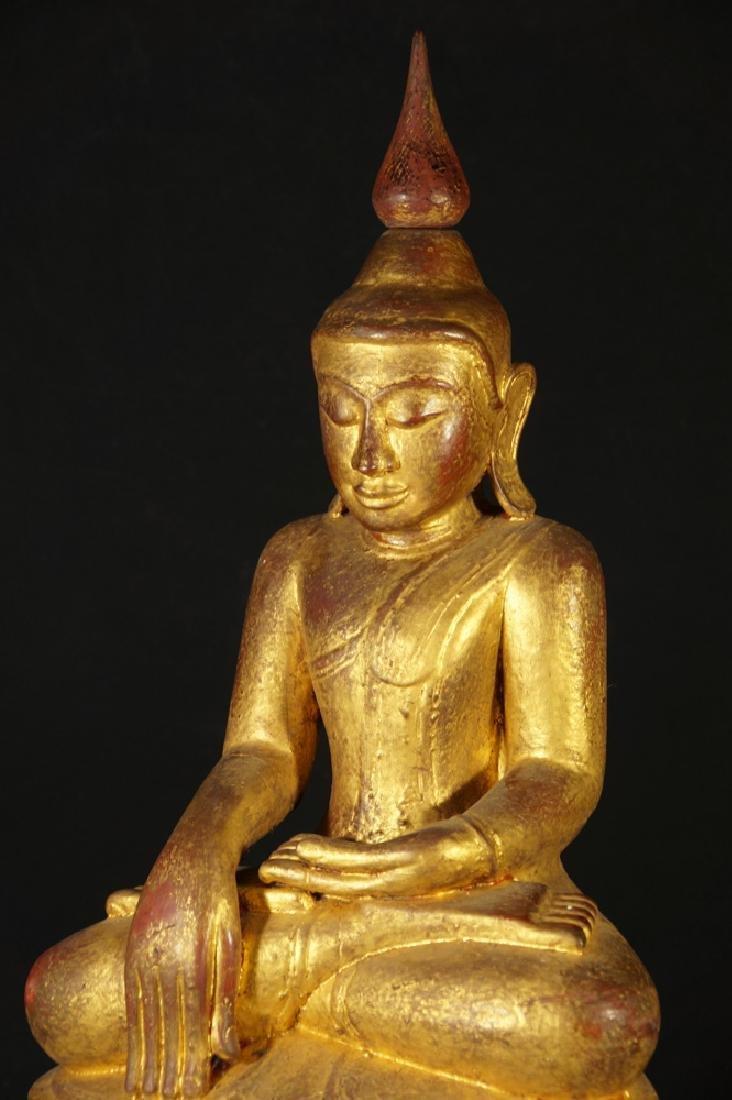 Antique Burmese Buddha statue - 9