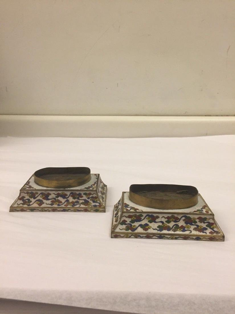 Pair Of Chinese Cloisonne Stands, 19th Century