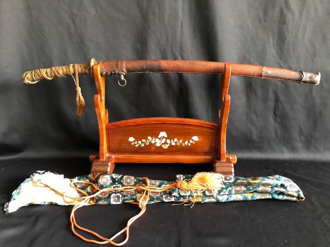 Mighty WWII Gunto Katana sword double signed Genbusai