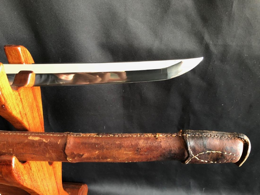 Mighty WWII Gunto Katana sword double signed Genbusai - 5