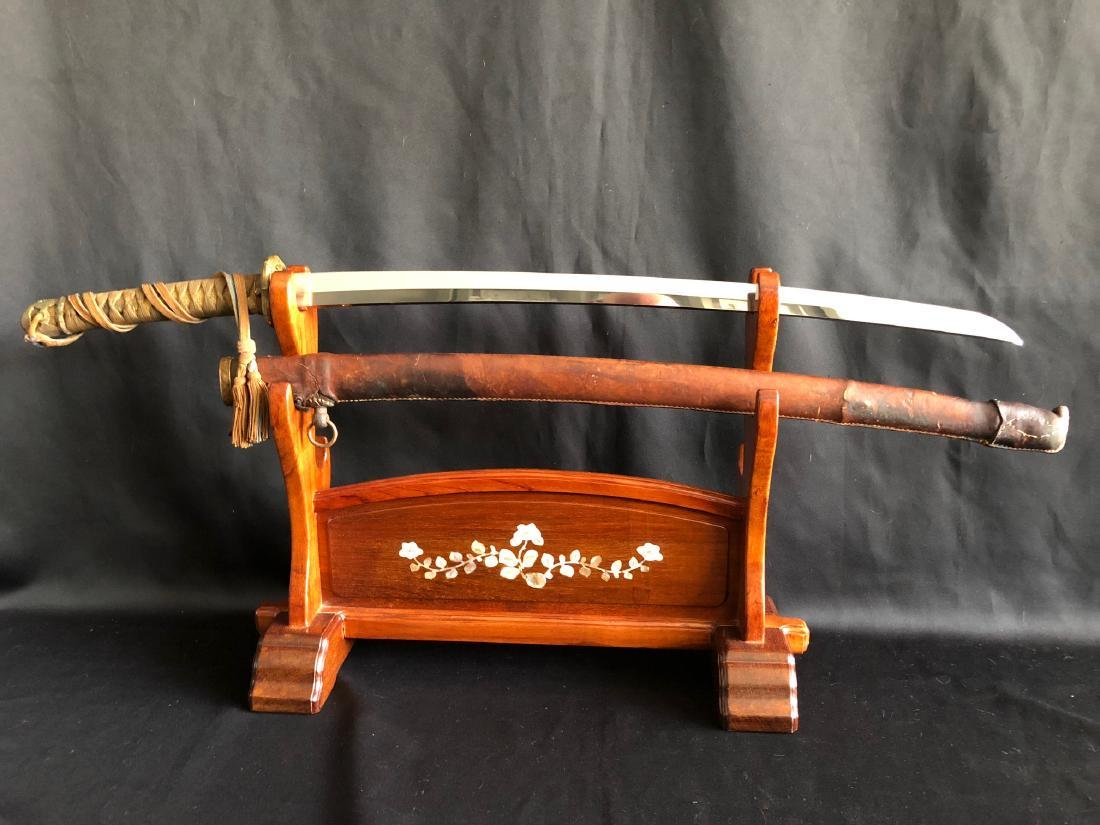 Mighty WWII Gunto Katana sword double signed Genbusai - 6