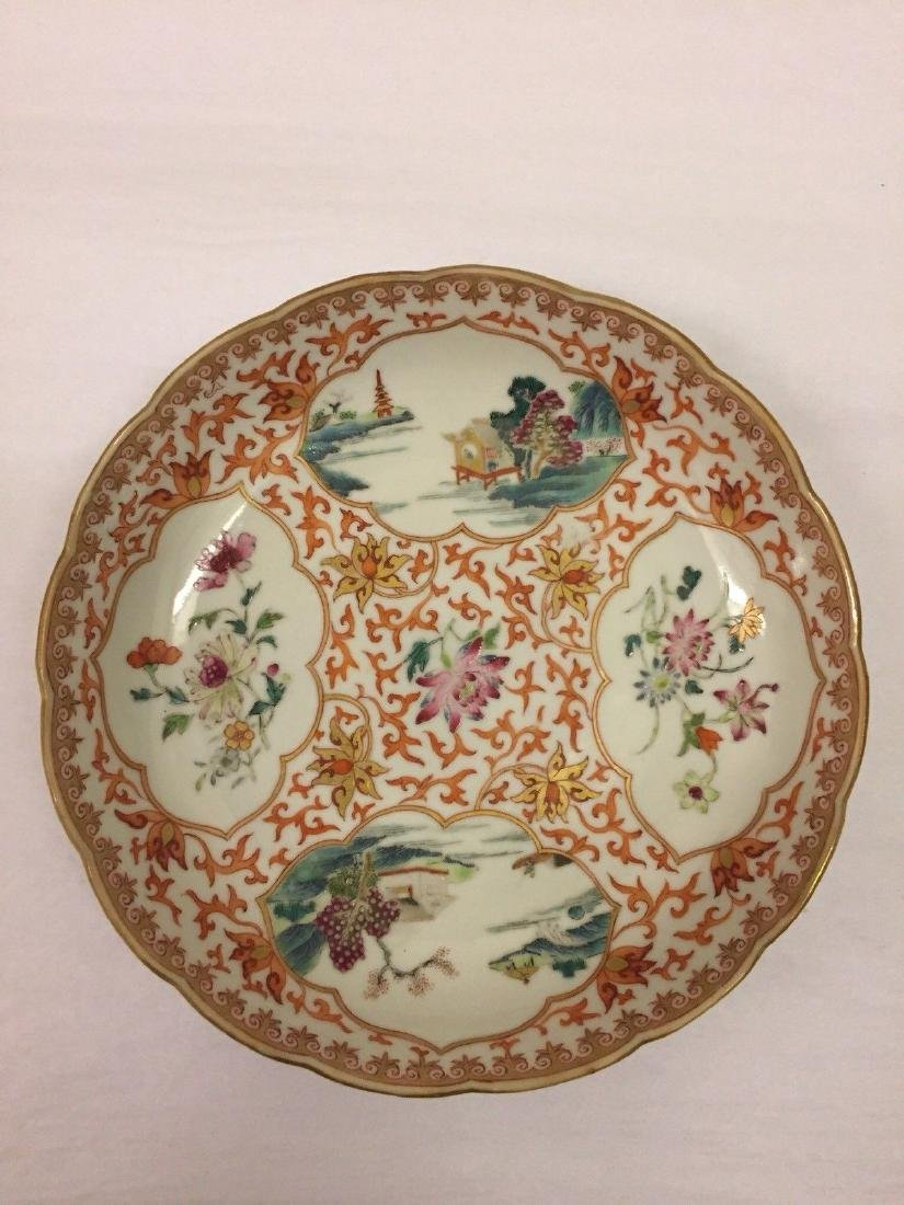Chinese Export Porcelain Famille Rose Saucer, ca 1780
