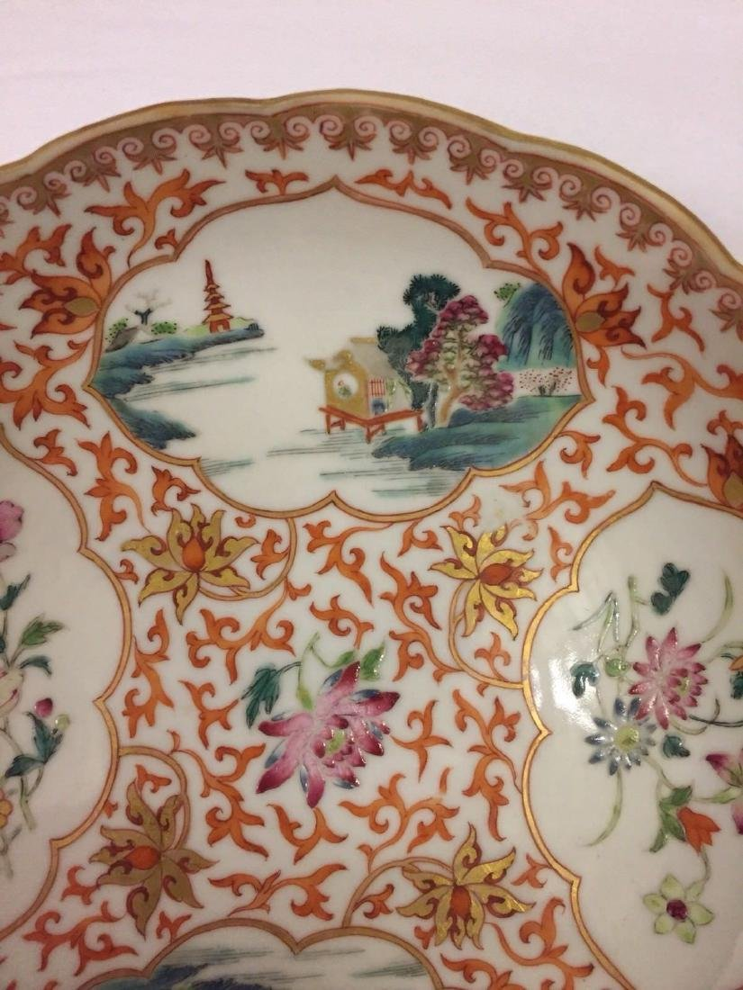 Chinese Export Porcelain Famille Rose Saucer, ca 1780 - 2
