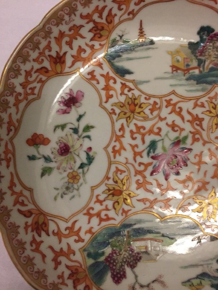 Chinese Export Porcelain Famille Rose Saucer, ca 1780 - 3