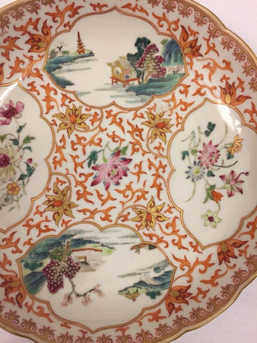 Chinese Export Porcelain Famille Rose Saucer, ca 1780 - 4