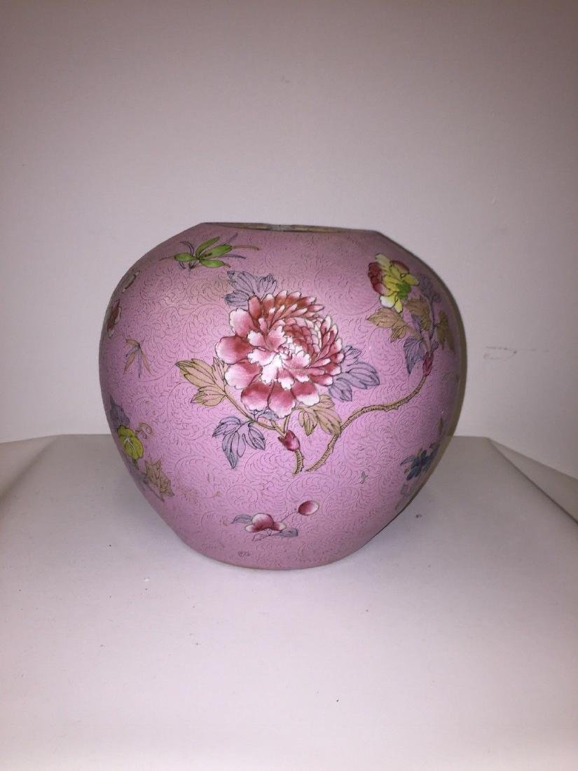Chinese Porcelain Famille Rose Ginger Jar, ca 1860