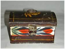 Small Decorated Tole (Tin) Box
