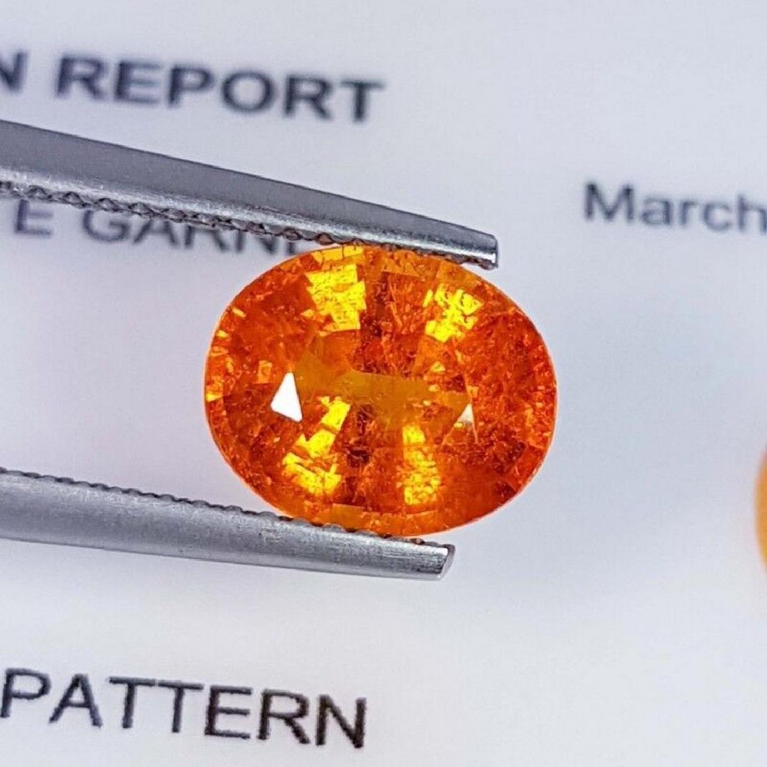 IGI CERTIFIED Spessartite Granet - 2.84 ct