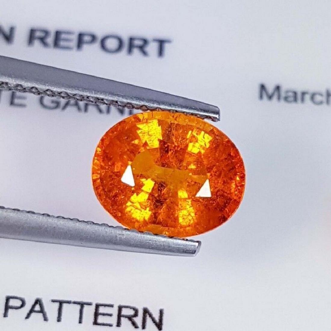 IGI CERTIFIED Spessartite Granet - 2.84 ct - 4