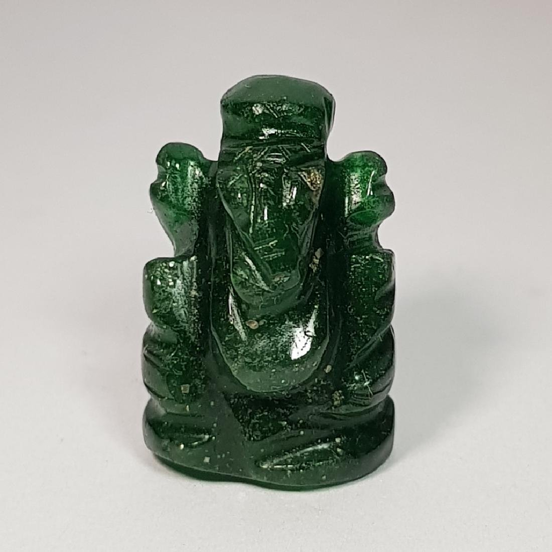 Jade Lord Ganesha Carving - 29.54 ct